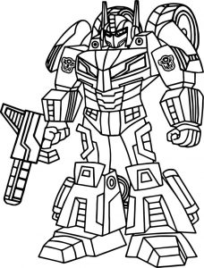 Print and color transformer picture