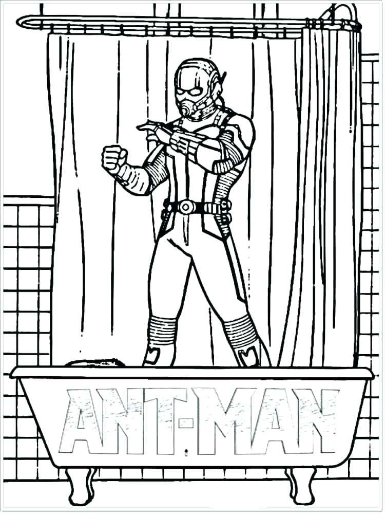 Print Ant Man Coloring Page