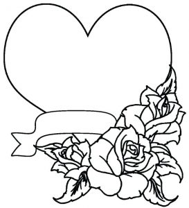 Print coloring pages for adults heart
