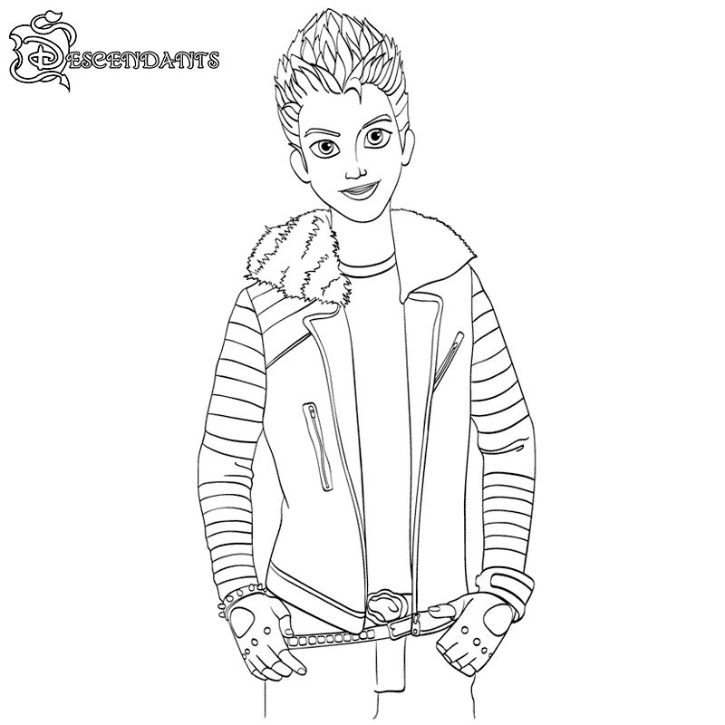 Print Descendants Coloring Pages
