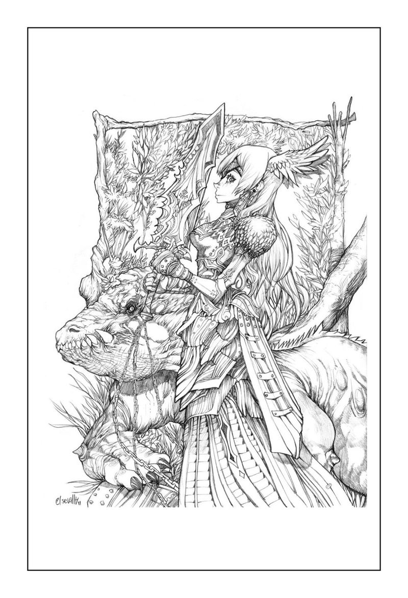 Print Dragon Coloring Pages For Adults