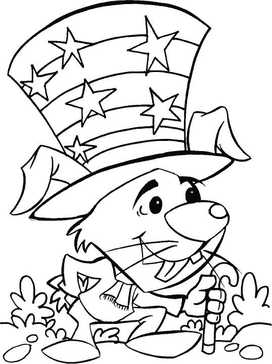 Print Free 4th Of July Coloring Pages