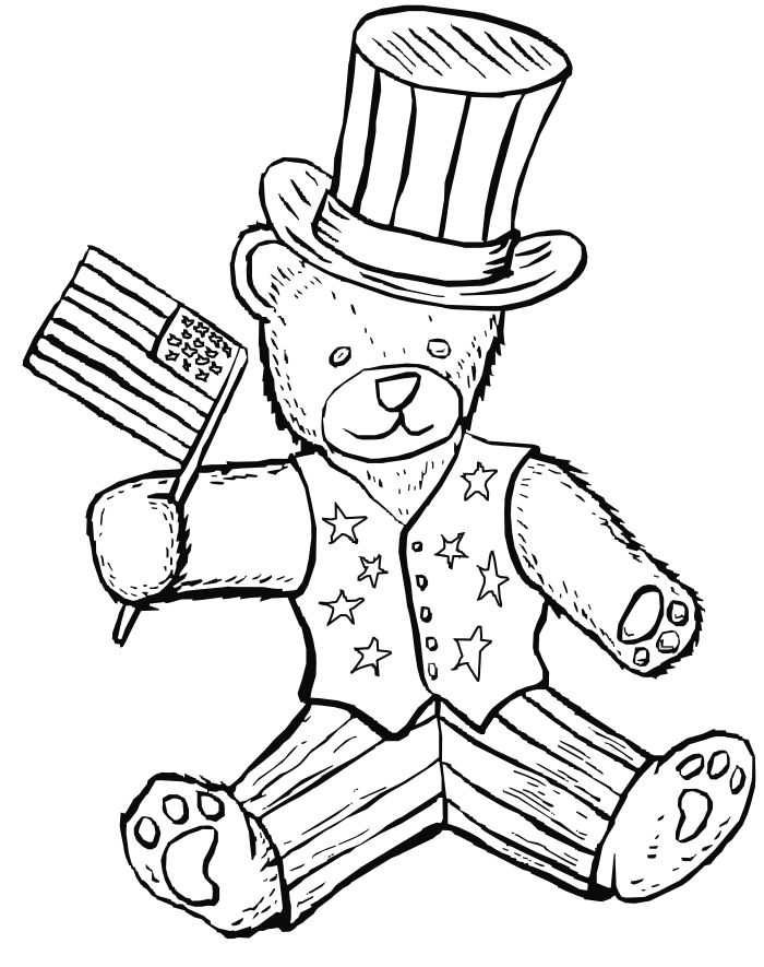 Print Free 4th Of July Coloring Pages 1