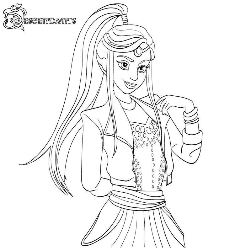 Print Free Descendants Coloring Pages