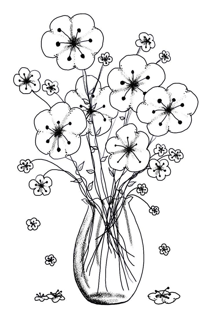 Print Free Flower Coloring Pages