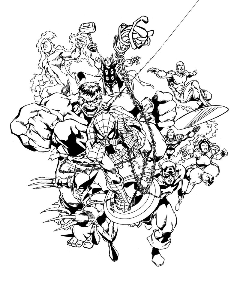 Print Free Marvel Coloring Pages 001