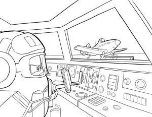 Print free planes coloring pages