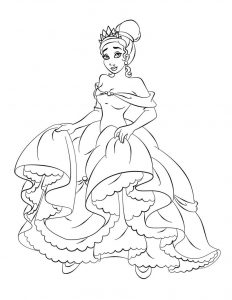 Print free princess coloring pages 001