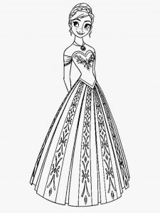 Print frozen coloring sheets free