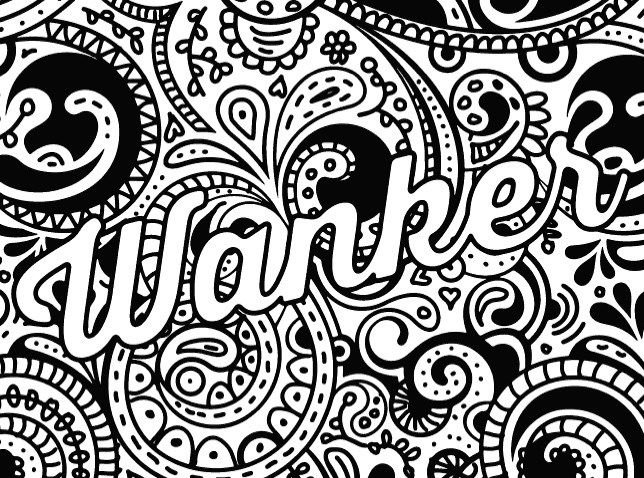 Print Funny Swear Adult Coloring Pages