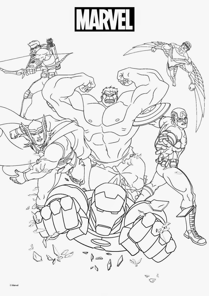 Print Marvel Coloring Pages 001