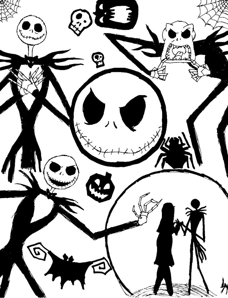 Print Nightmare Before Christmas Coloring Photos