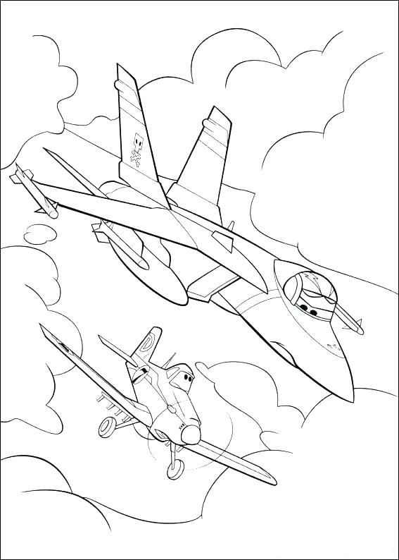 Print Planes Coloring Pages