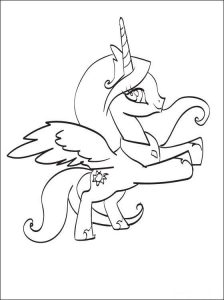 Print princess celestia to color