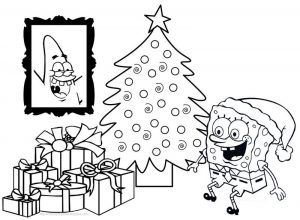 Print spongebob christmas coloring pages
