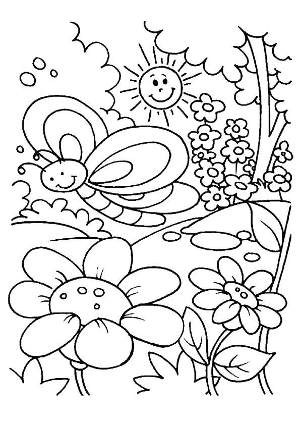 Print Spring Coloring Pages 001
