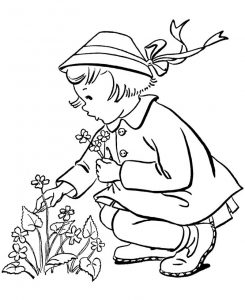 Print spring coloring pages free 001