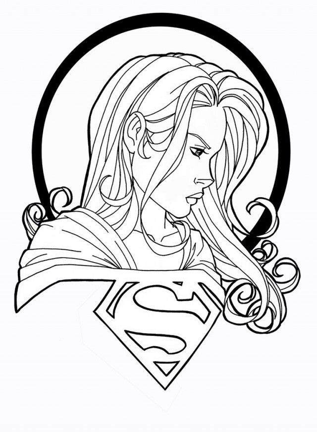 Print Supergirl Coloring Pages 001