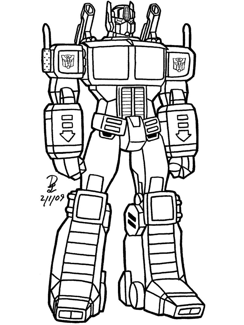 Print Transformer Coloring Page
