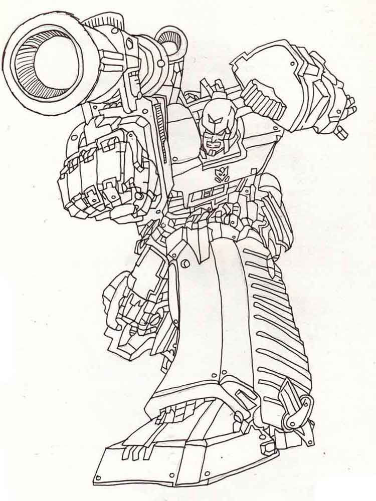 Print Transformer Coloring Pages