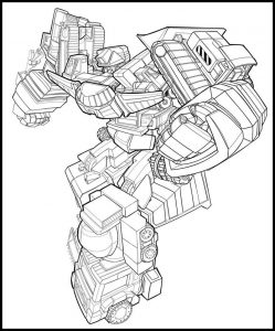 Print transformers coloring page