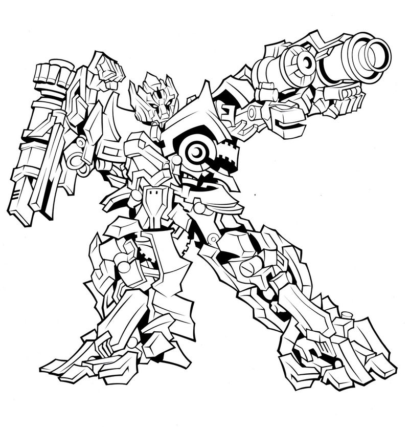 Print Transformers Coloring Page Free