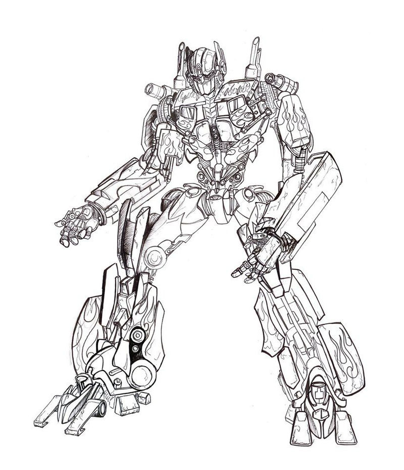 Print Transformers Coloring Pages