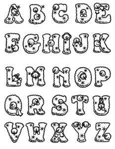 Printable abc coloring page