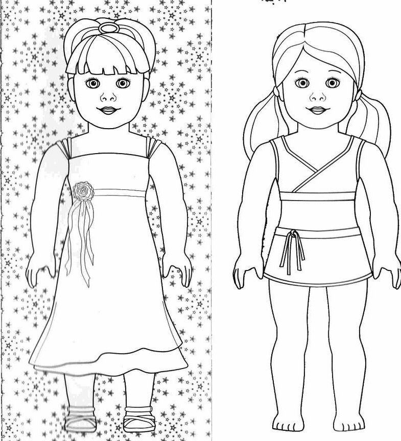 Printable American Girl Doll Coloring Pages