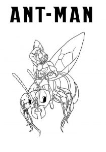 Printable ant man coloring pages free