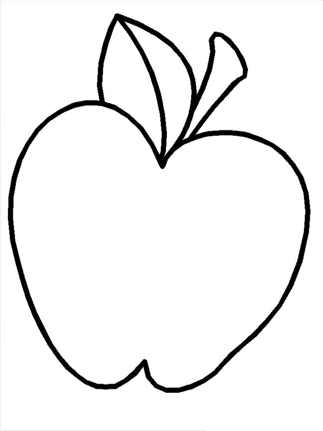 Printable Apple Coloring Pages For Kids