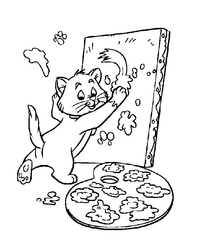 Printable Aristocats Coloring Page Free
