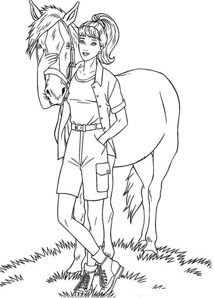 Printable Barbie Coloring Pages For Kids