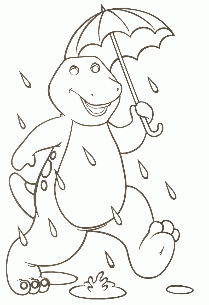 Printable Barney Coloring Pages For Kids