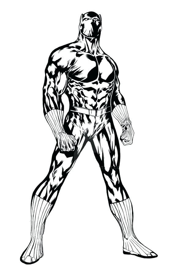 Printable Black Panther Coloring Pages