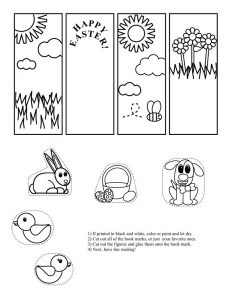 Printable bookmarks for kids for coloring