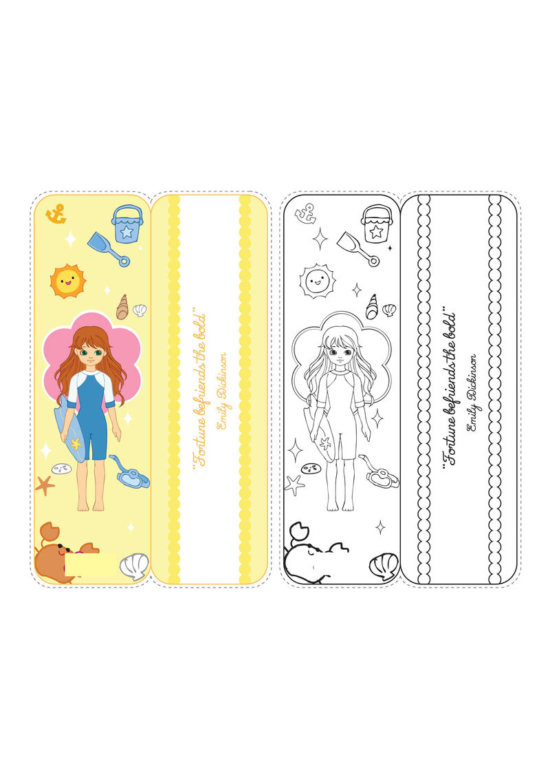 Printable Bookmarks For Kids Girls