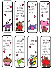 Printable bookmarks for kids with cute drawings