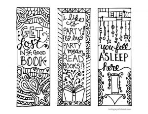 Printable bookmarks to color for kids
