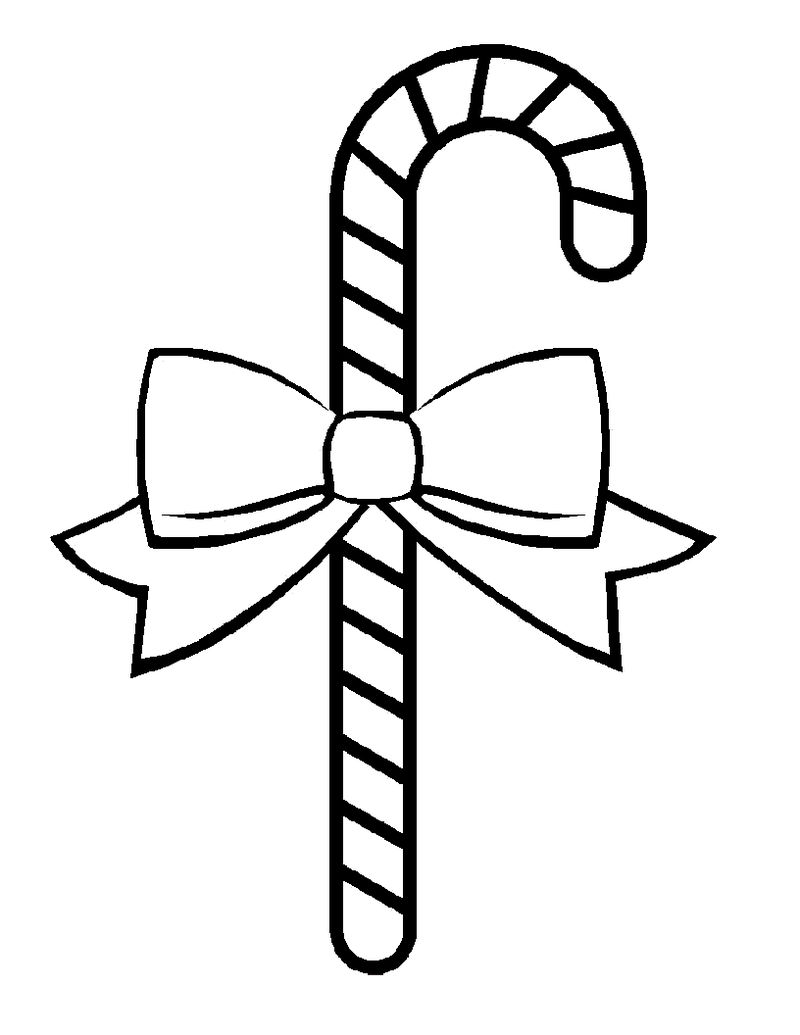 Printable Candy Cane Coloring Pages For Kids