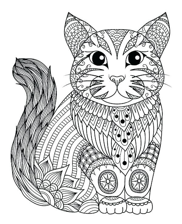 Printable Cat Coloring Pages For Adults