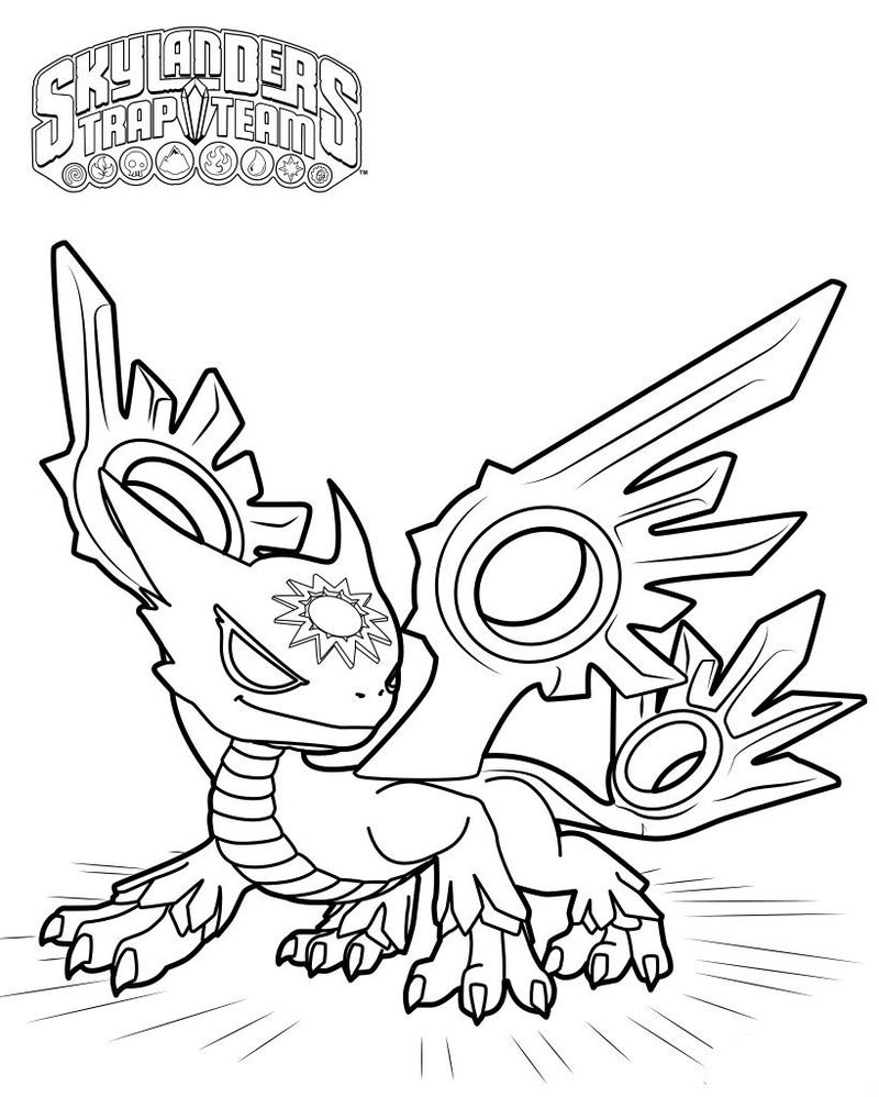 Printable Character From Skylander Coloring Page