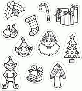 Printable christmas decoration cutouts