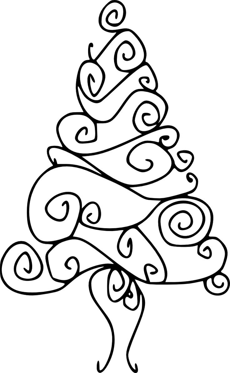 Printable Christmas Tree Coloring Pages 1