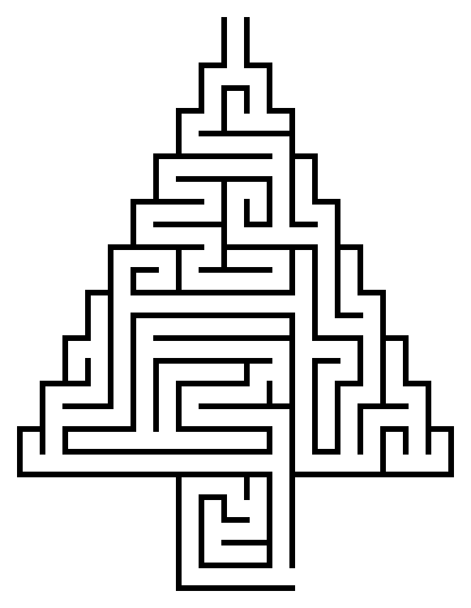 Printable Christmas Tree Maze