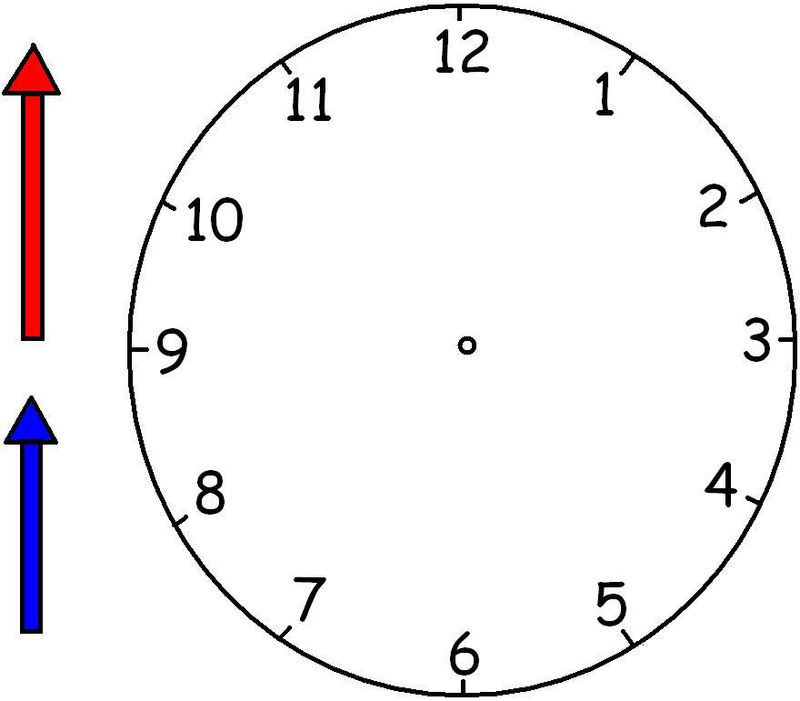 Printable Clock Face And Hands 001