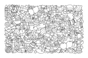 Printable coloring pages for adults christmas