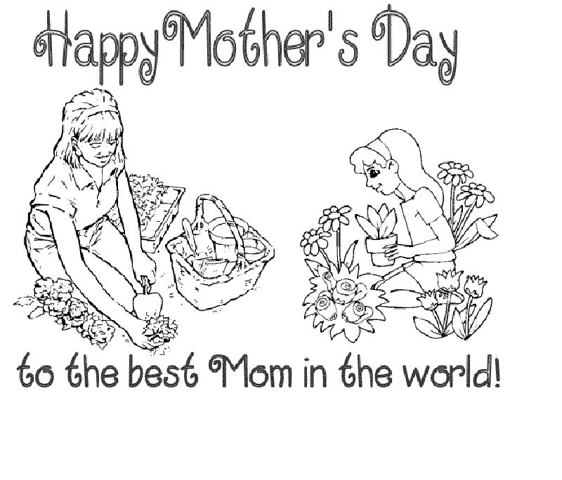 Printable Coloring Pages For Mothers Day