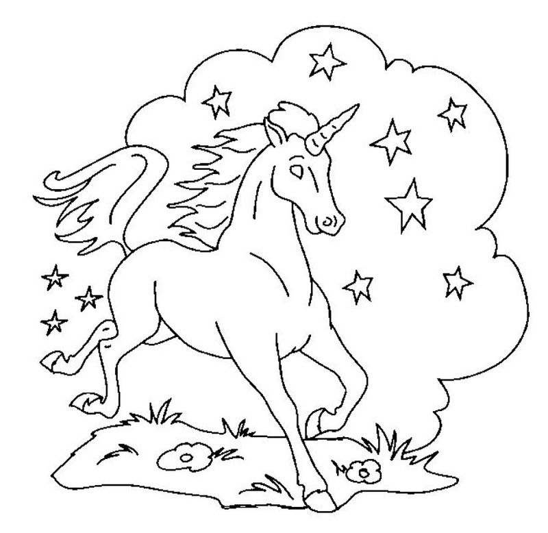 Printable Coloring Pages Of Unicorns