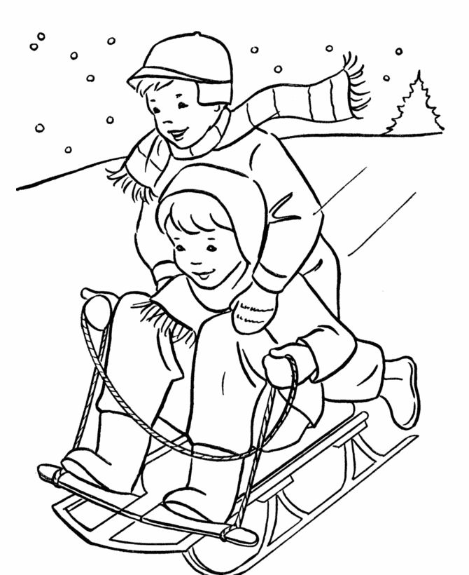 Printable Coloring Pages Winter